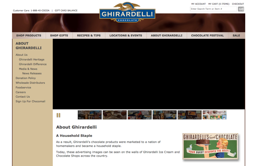 Ghirardelli Shop Screenshot